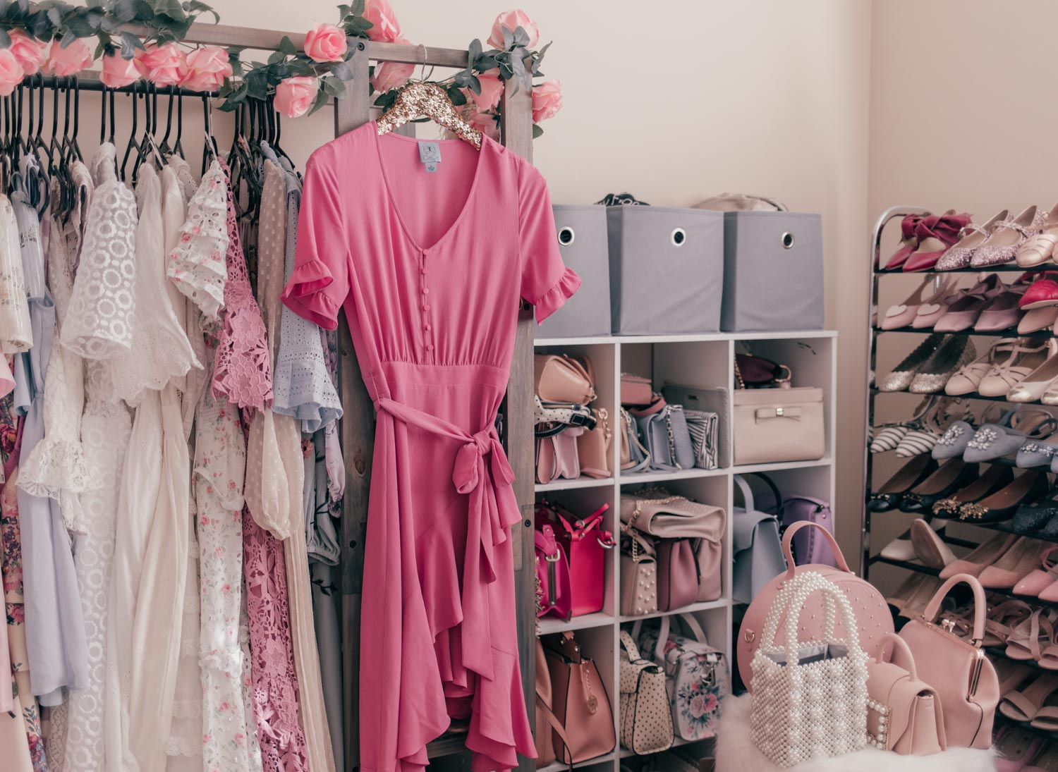 Elizabeth Hugen of Lizzie in lace shares her feminine and pastel closet tour