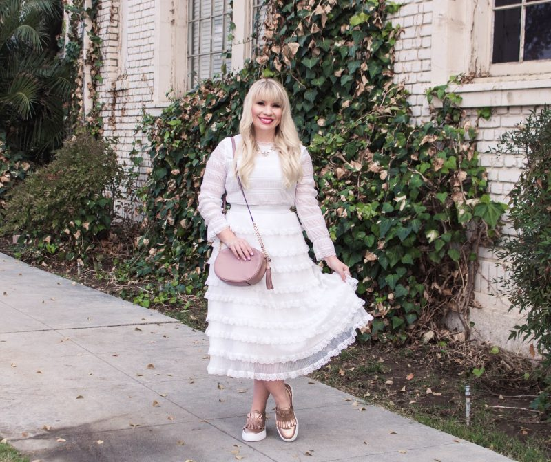 Two Ways to Style a White Ruffled Dress & Link Up