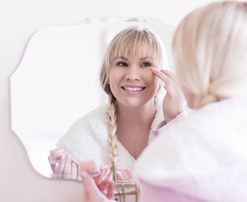 skincare routine by popular California beauty blogger Lizzie in Lace