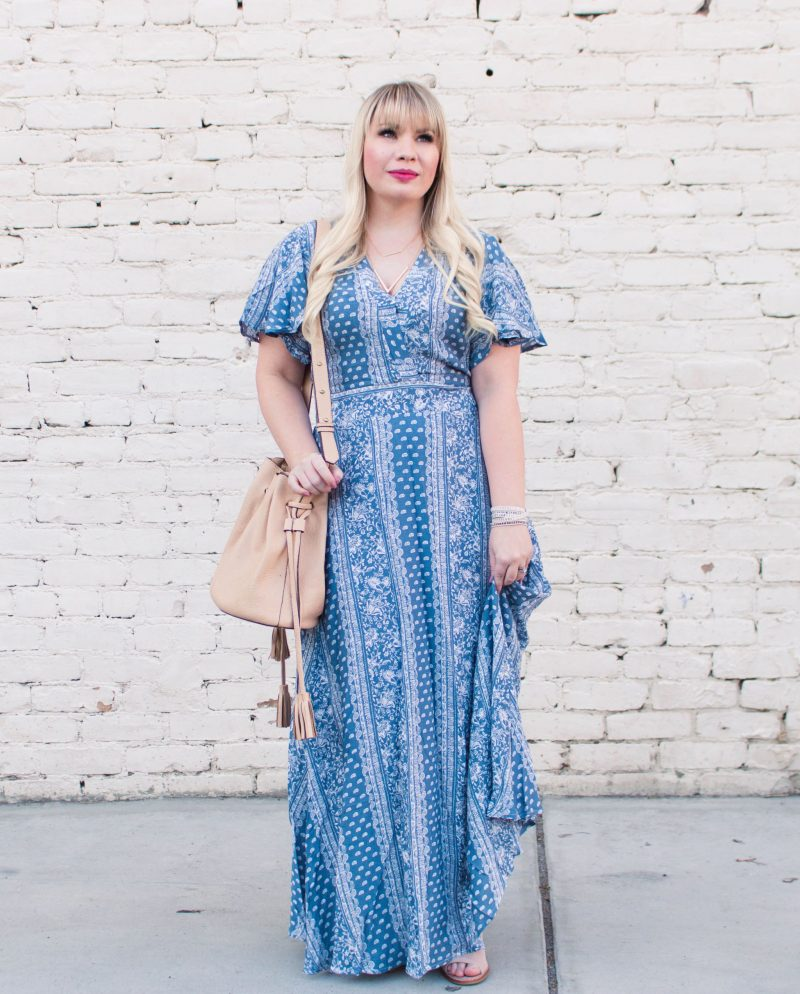 2d91723442de How to Wear Petite Maxi Dresses by popular California petite fashion  blogger Lizzie in Lace ...