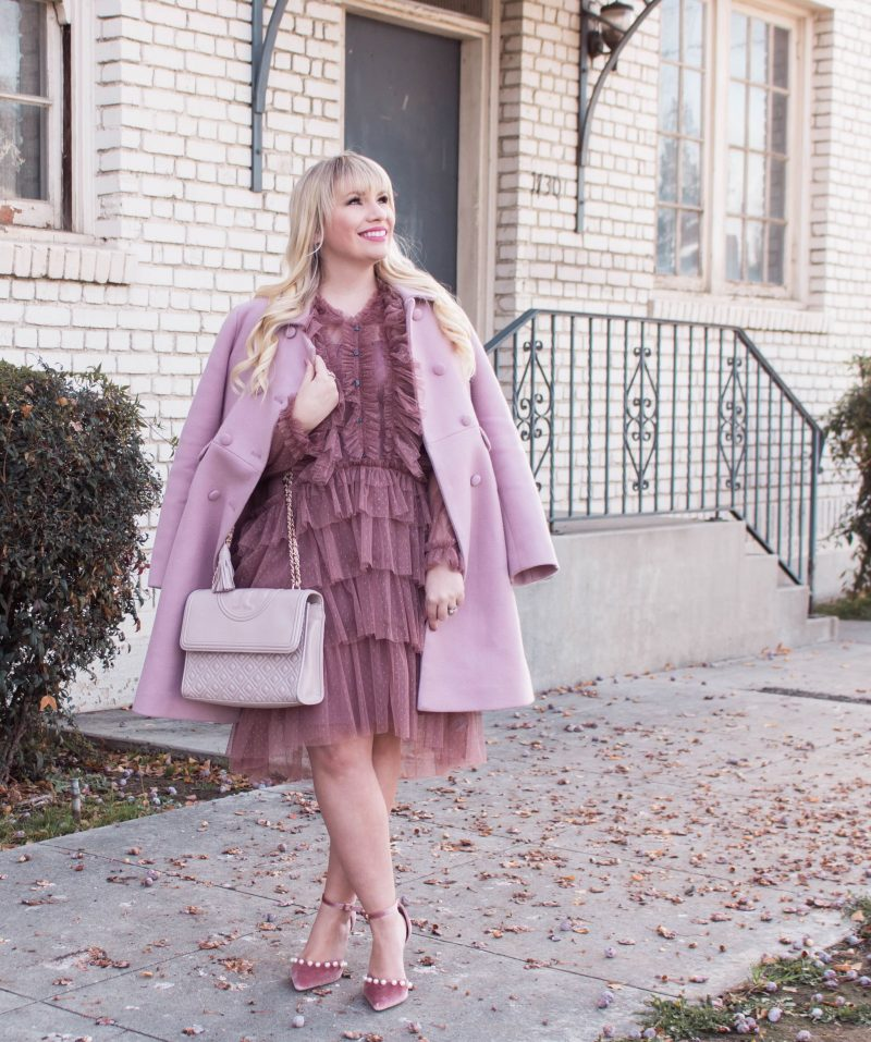 Valentines Day outfit by popular California style blogger Lizzie in Lace