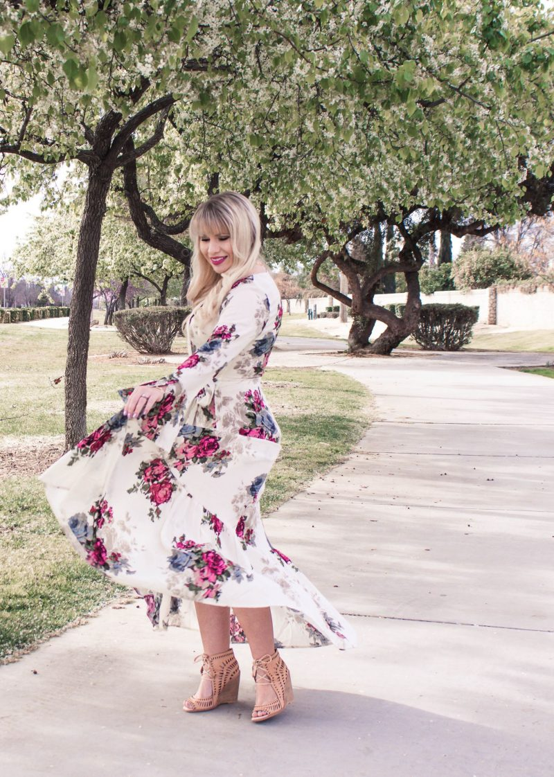 Floral Maxi Dresses for Spring by popular California fashion blogger Lizzie in Lace