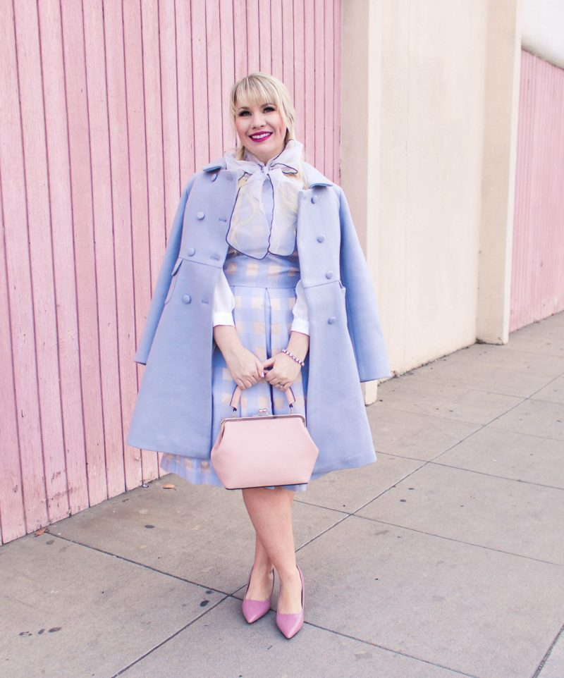 monochrome blue winter outfit - My 2018 Goals by popular California style blogger Lizzie in Lace