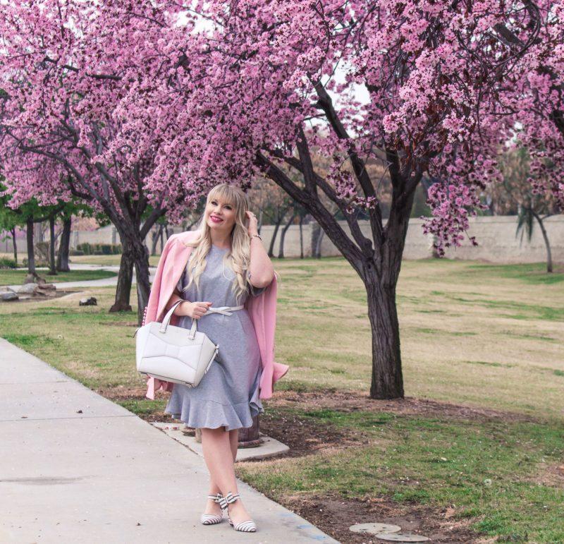 How to Dress Up a Grey Shirt Dress & Giveaway