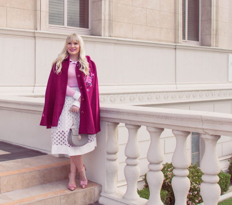How to Style a Floral Cape for Spring