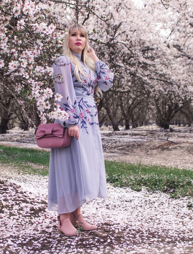 The Most Feminine Spring Outfit by popular California fashion blogger Lizzie in Lace