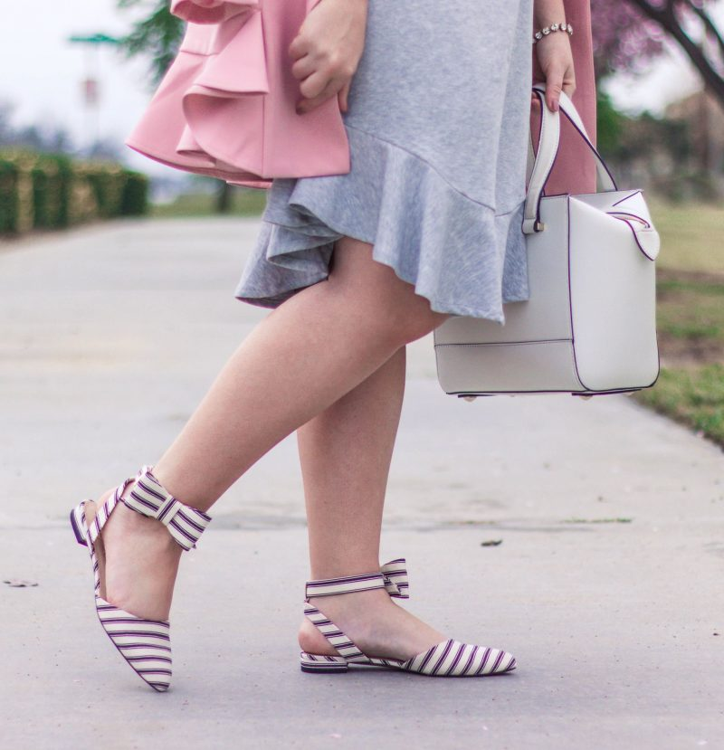 How to Dress Up a Grey Shirt Dress by popular California fashion blogger Lizzie in Lace