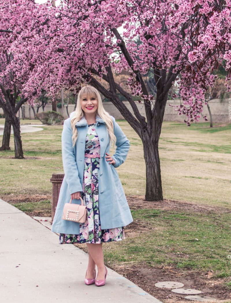 The Perfect Floral Easter Dress by popular California fashion blogger Lizzie in Lace