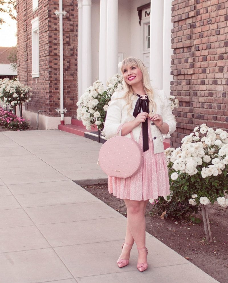 This Season's Most Feminine Blazer featured by popular California fashion blogger, Lizzie in Lace