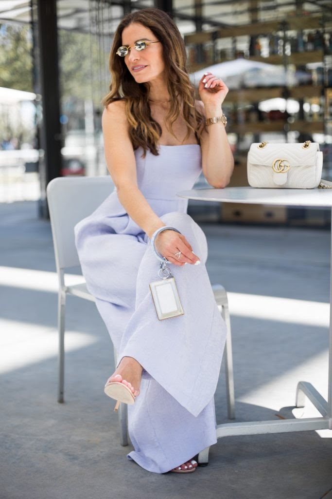 Lovely Lavender Jumpsuit featured by popular California Fashion Blogger, Lizzie in Lace