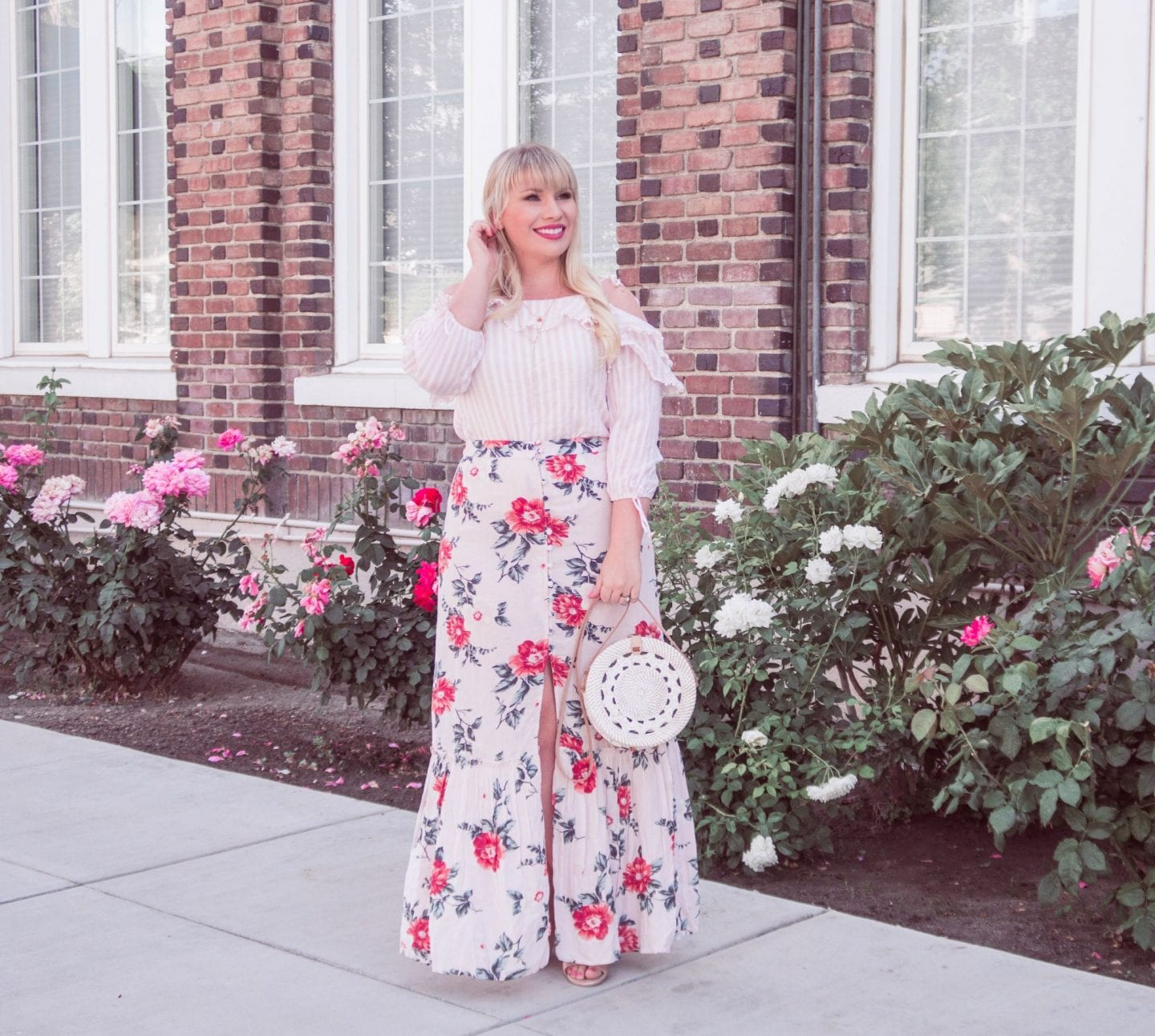How to Mix Florals and Stripes