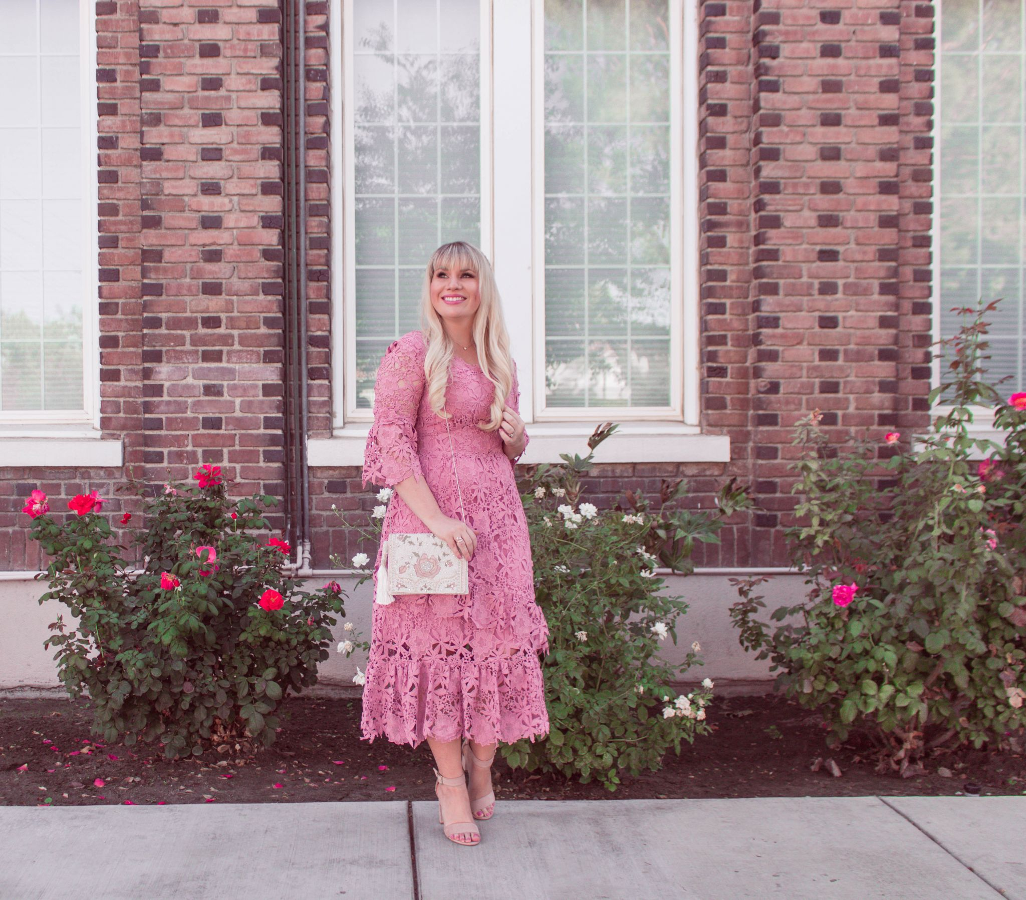 On Wednesdays We Wear…A Pink Lace Dress