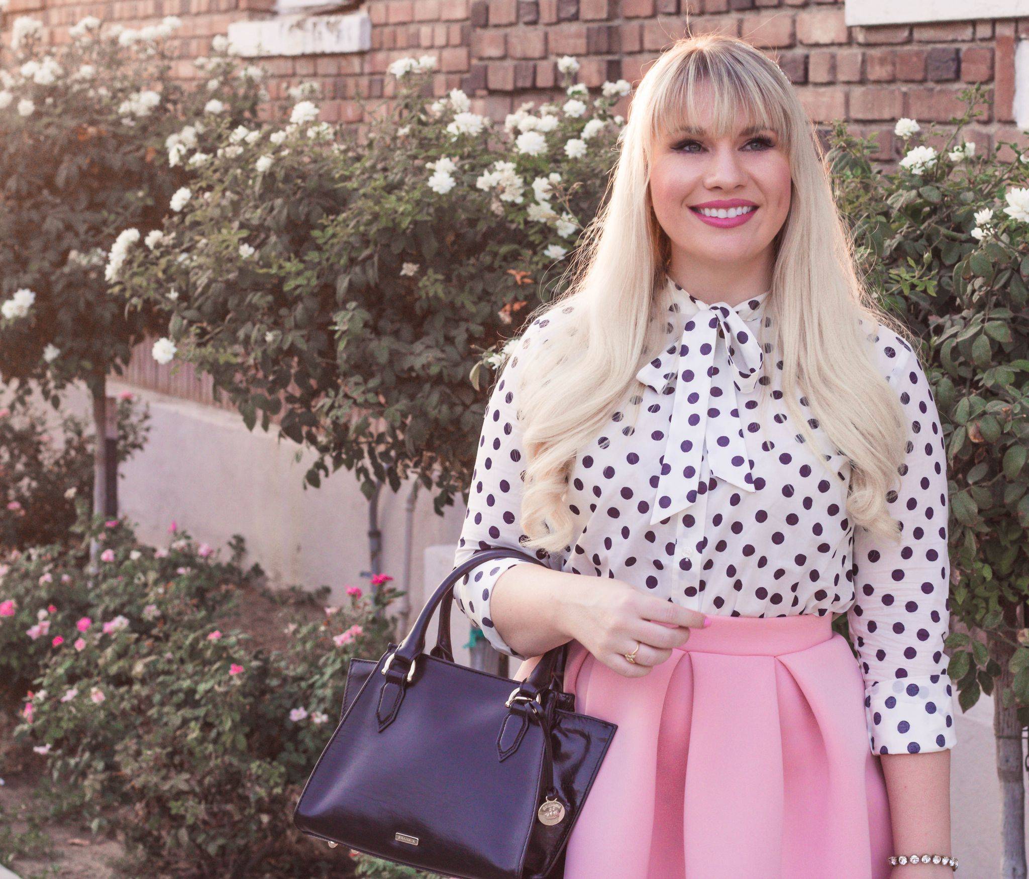 polka dot top outfit