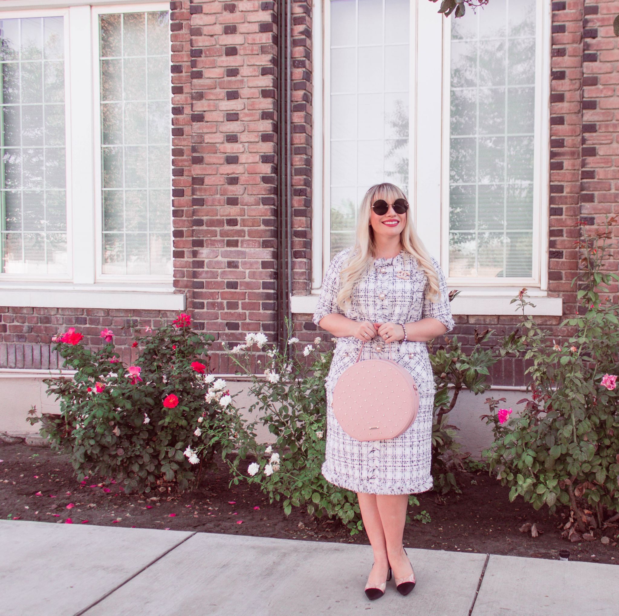 The Neutral Tweed Dress You Need For Fall
