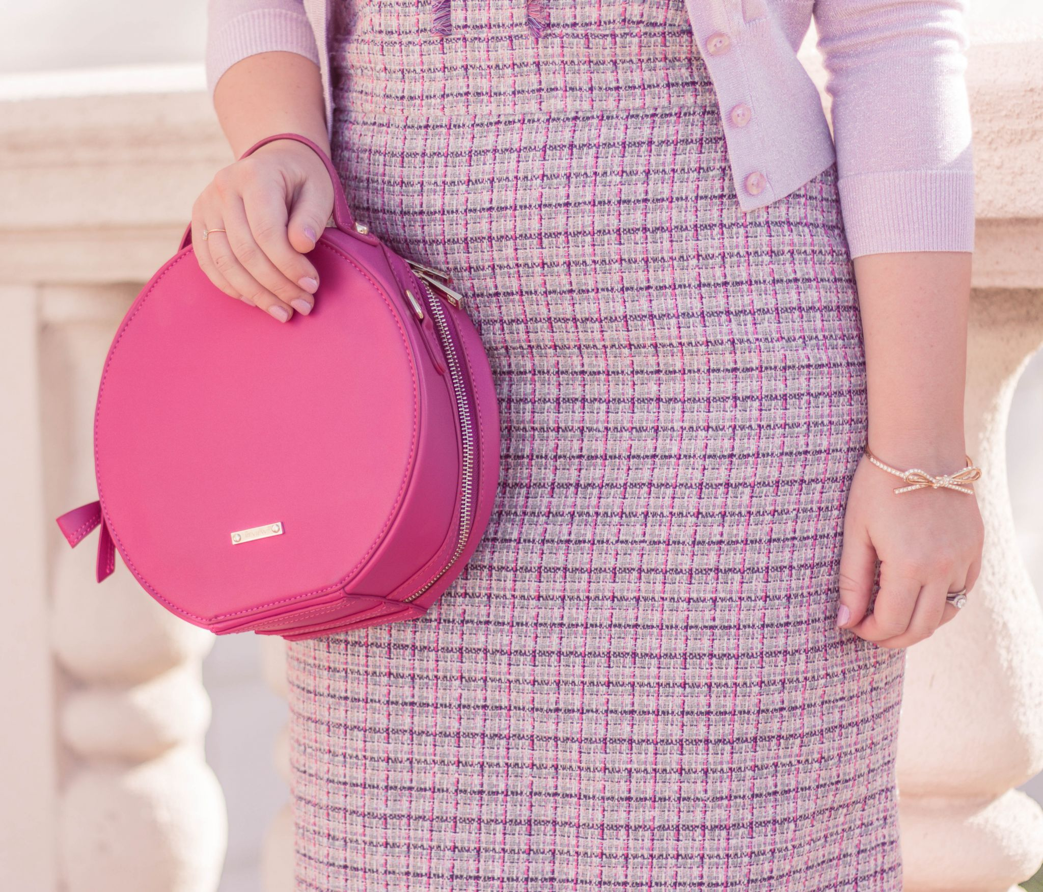 feminine tweed dress