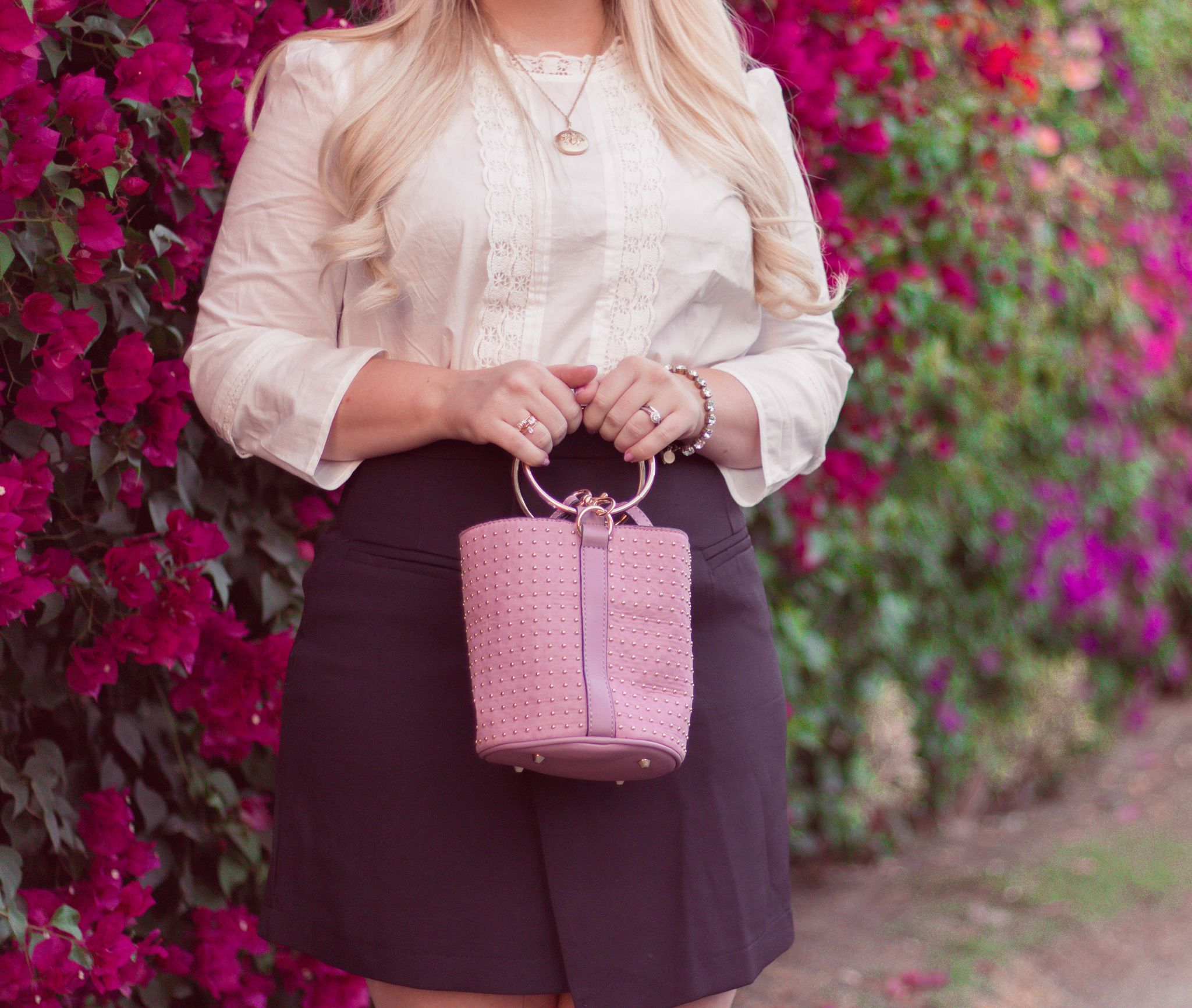 wear navy and blush