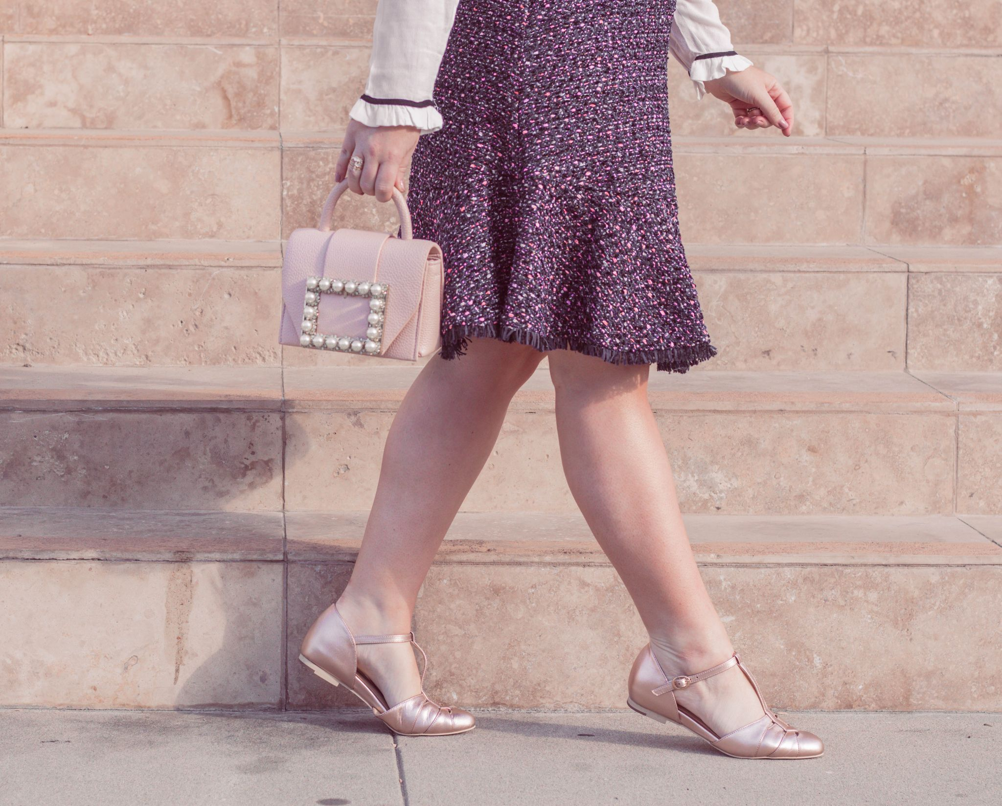 Elizabeth Hugen of Lizzie in Lace shares her girly shoe collection including these vintage style flats