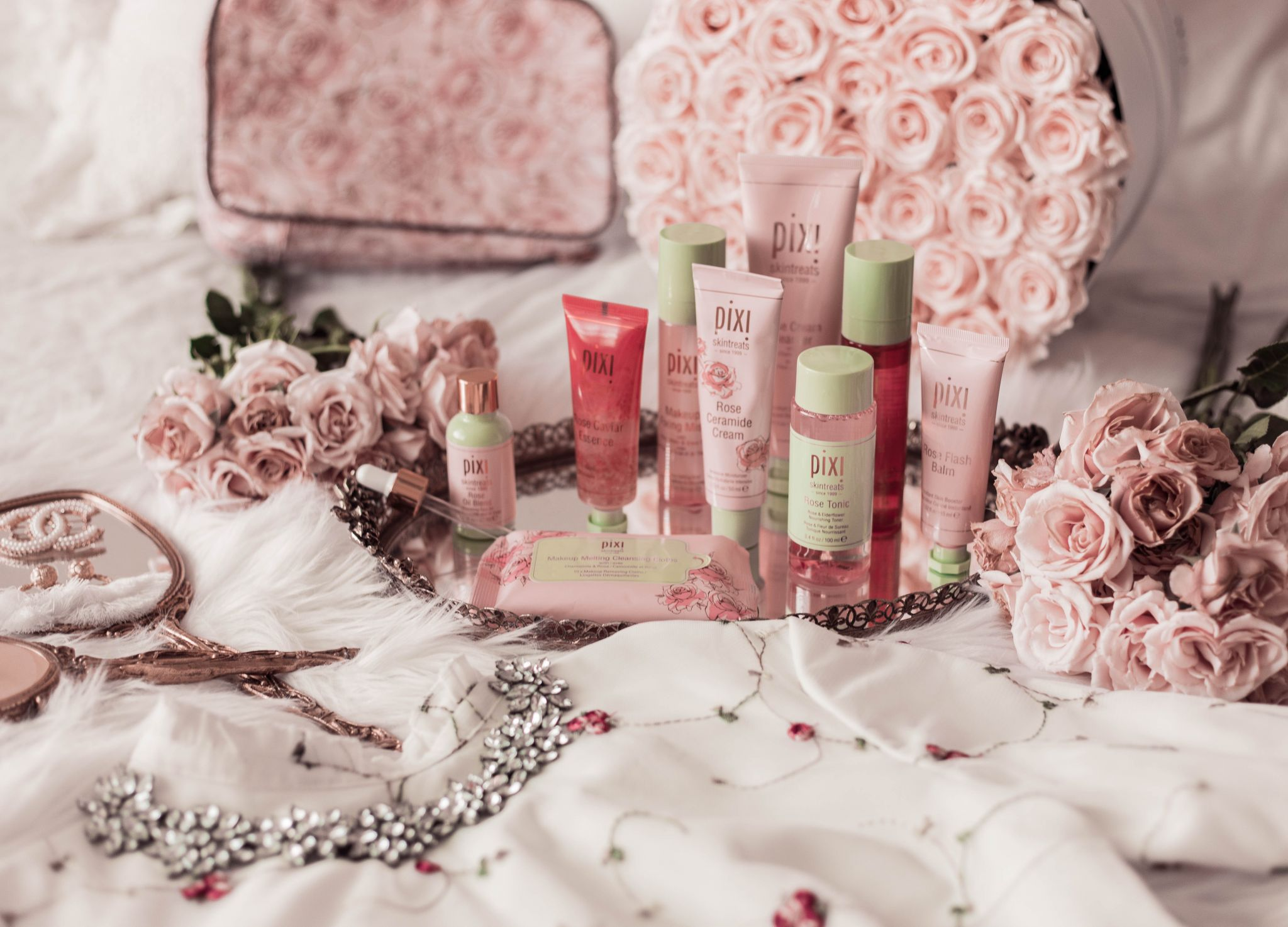 rose scented beauty products