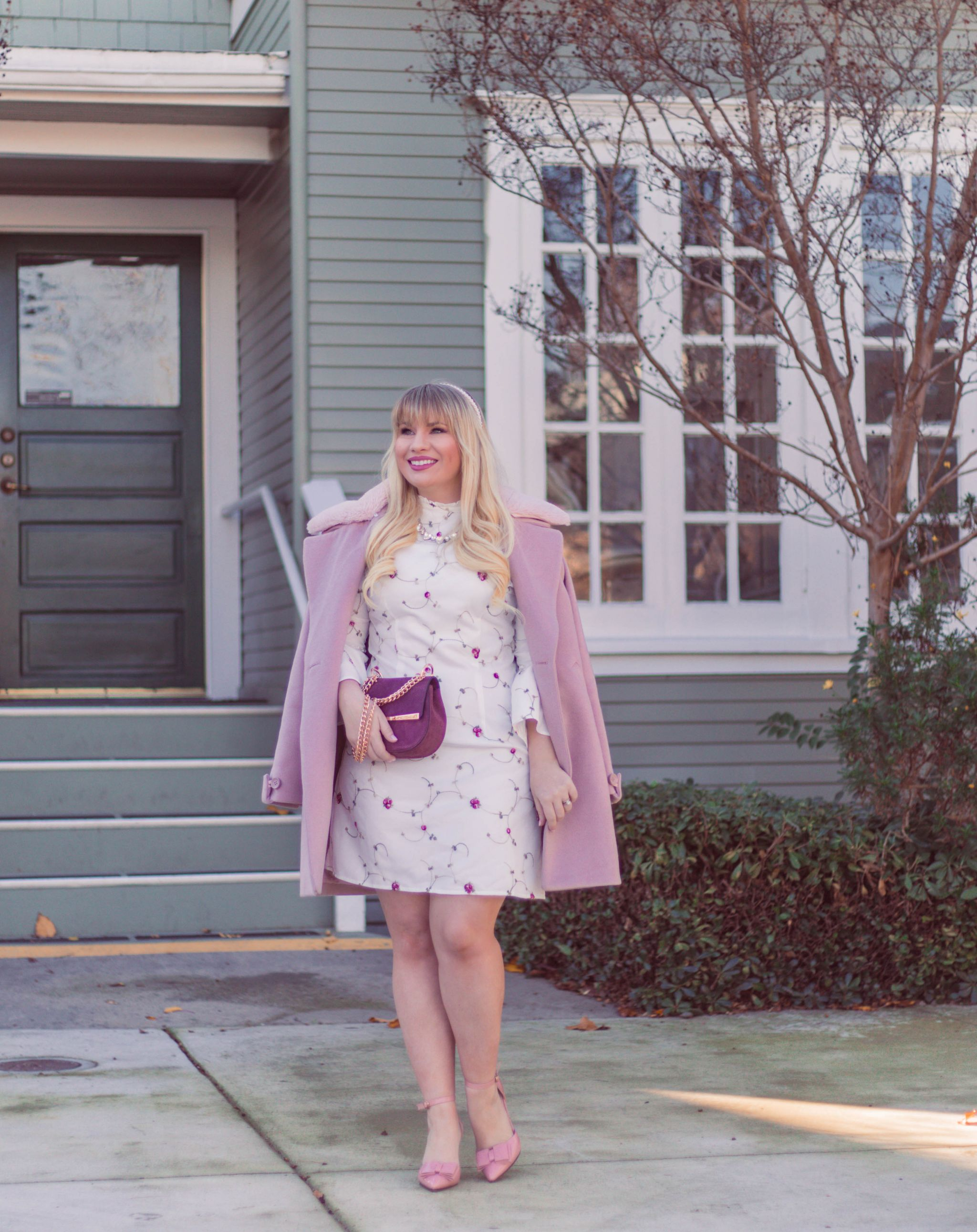feminine valentine's day outfit