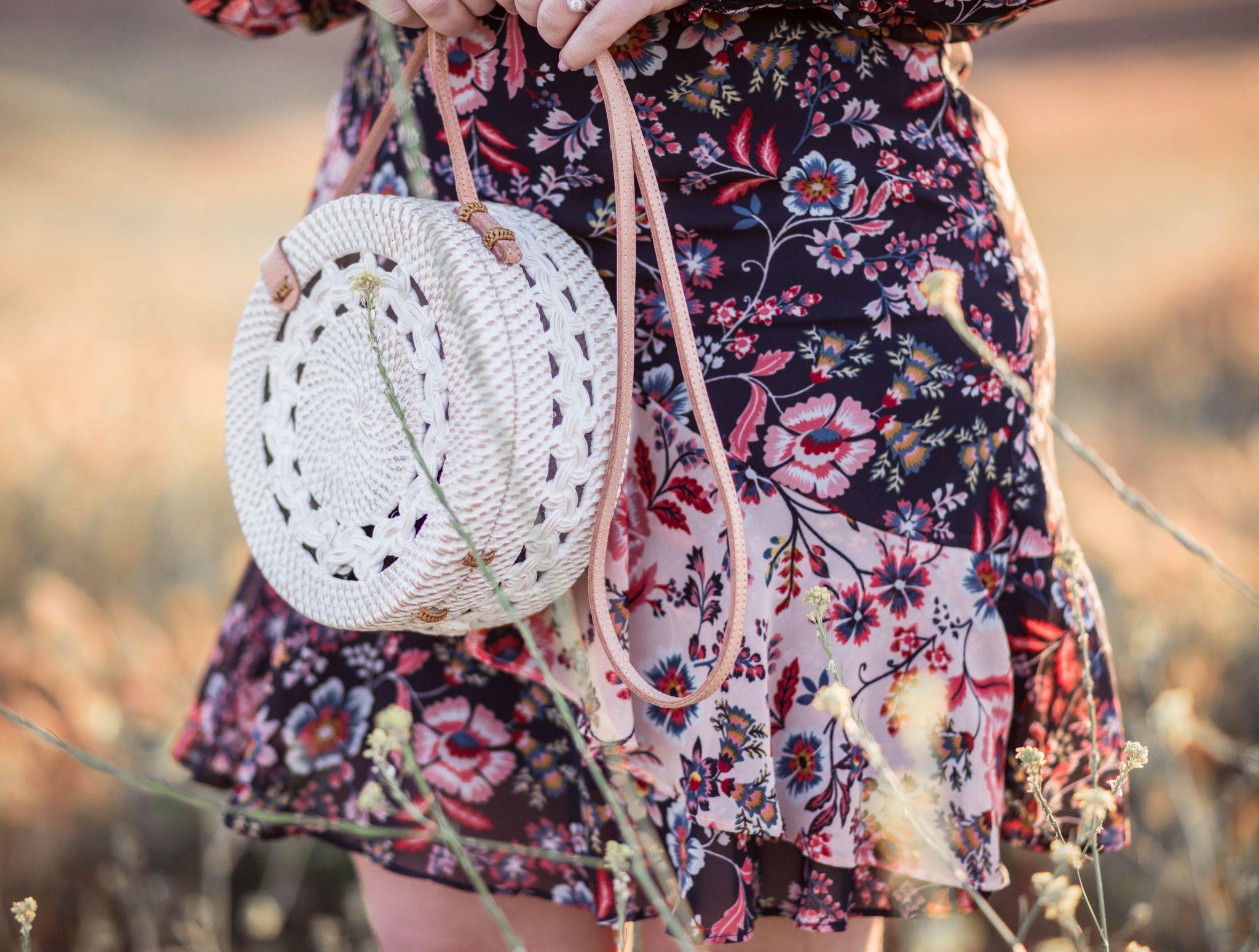 woven boho handbag