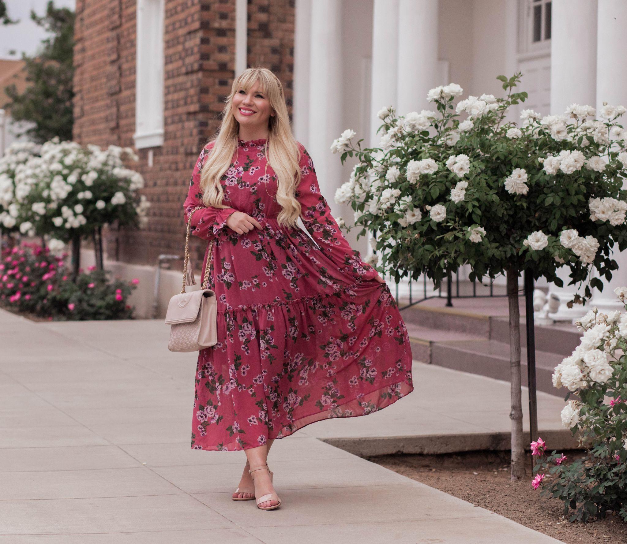 flowy floral dresses