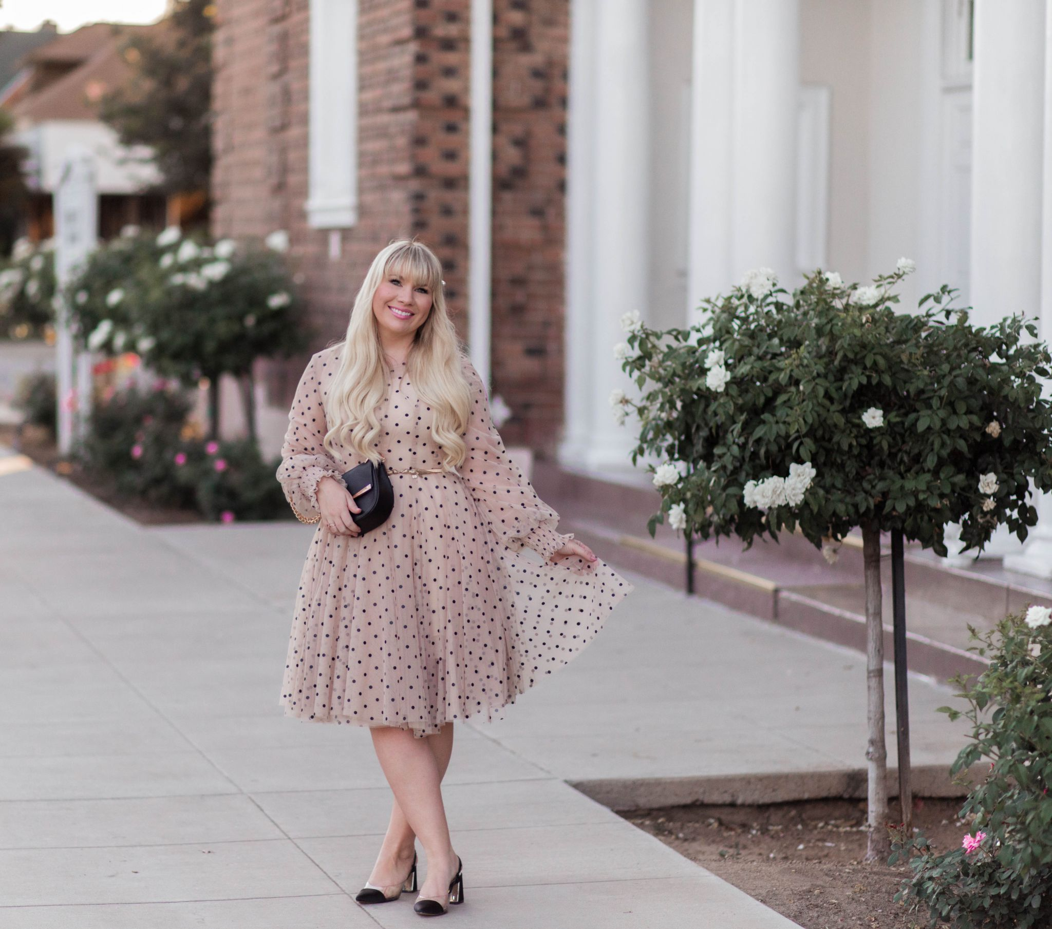 The Prettiest Polka Dot Tulle Dress