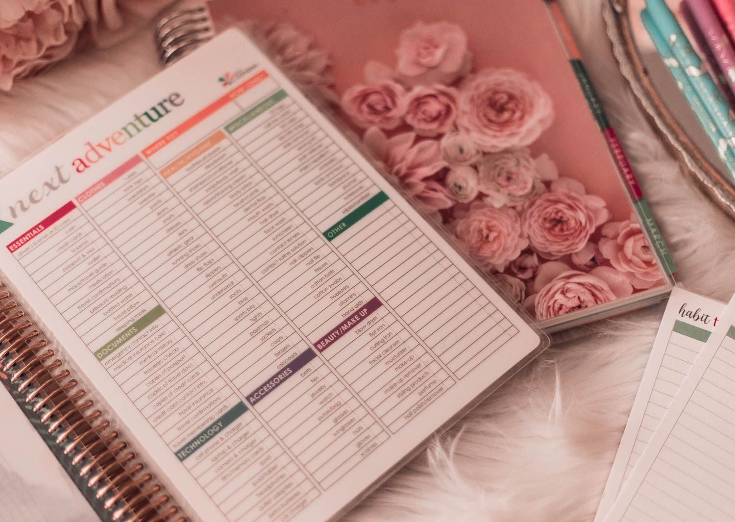 Fashion blogger, Elizabeth Hugen, shares the importance of a Mid-Year Goal Check In along with her secret weapon, the Erin Condren life planner.