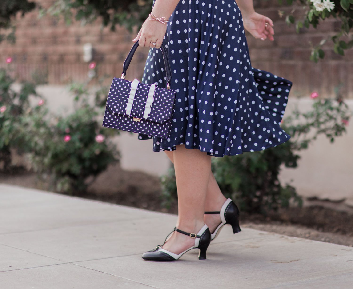 Elizabeth Hugen of Lizzie in Lace shares her girly shoe collection including these vintage style heels