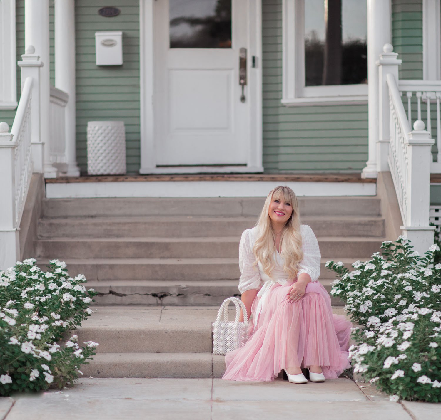 Elizabeth Hugen of Lizzie in Lace styles a pink tulle skirt!