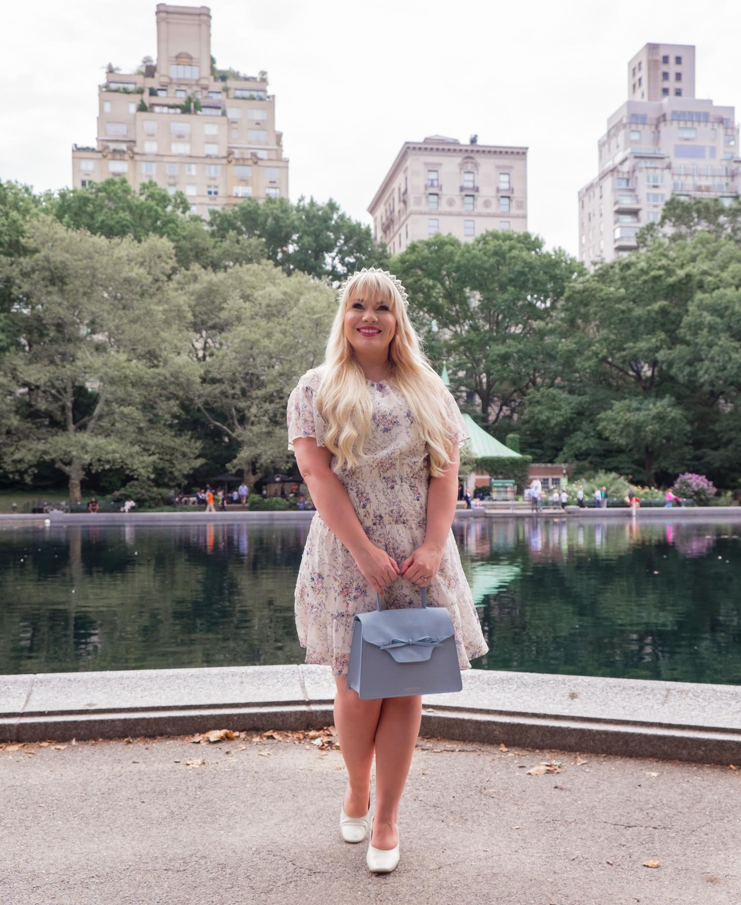 Elizabeth Hugen of Lizzie in Lace wears the Elliatt Wish dress to NYFW!