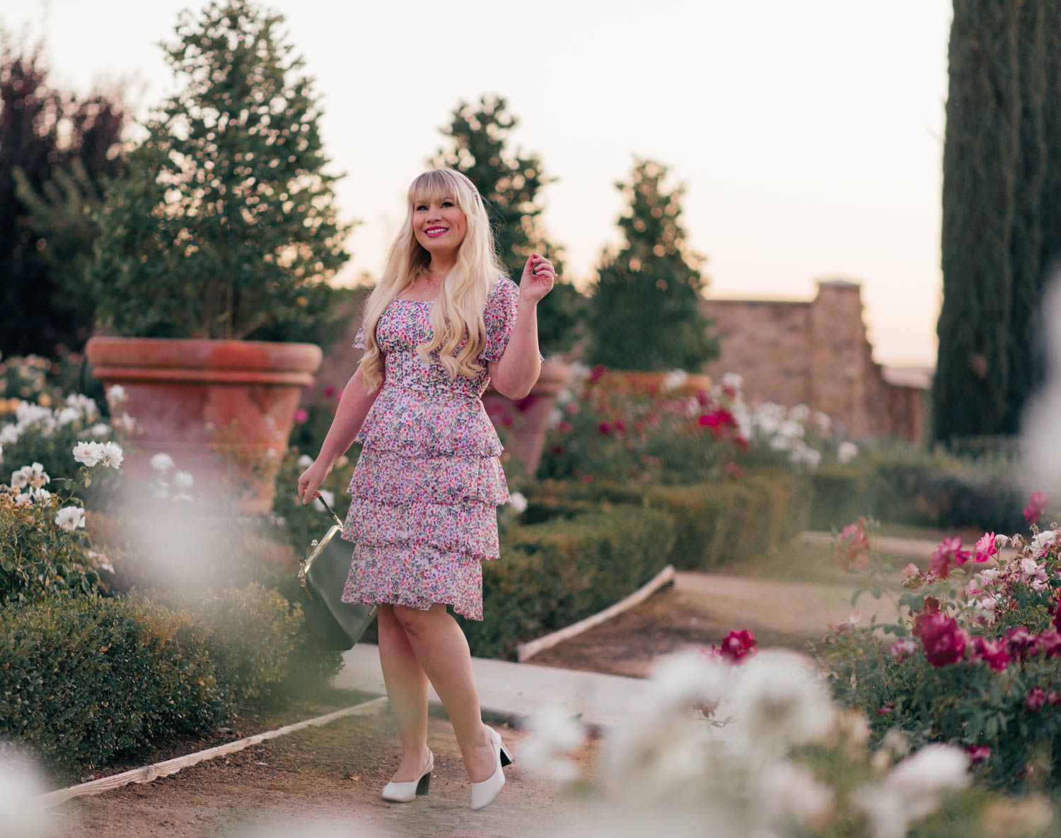 Transitioning to Fall with a Girly Colorful Floral Dress