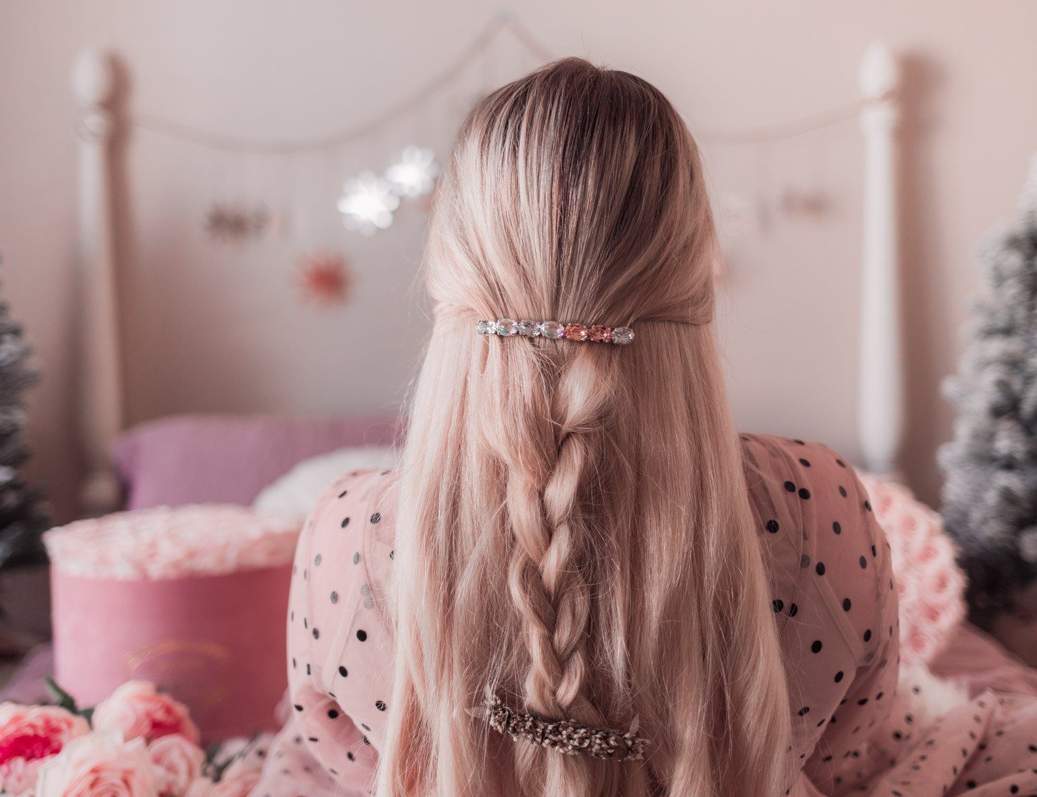 Elizabeth Hugen from Lizzie in Lace shares 4 easy holiday hairstyles to recreate