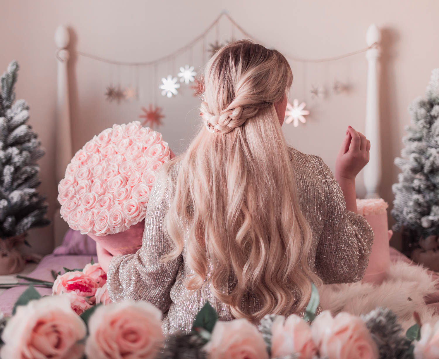 Elizabeth Hugen from Lizzie in Lace shares a simple braided hairstyle