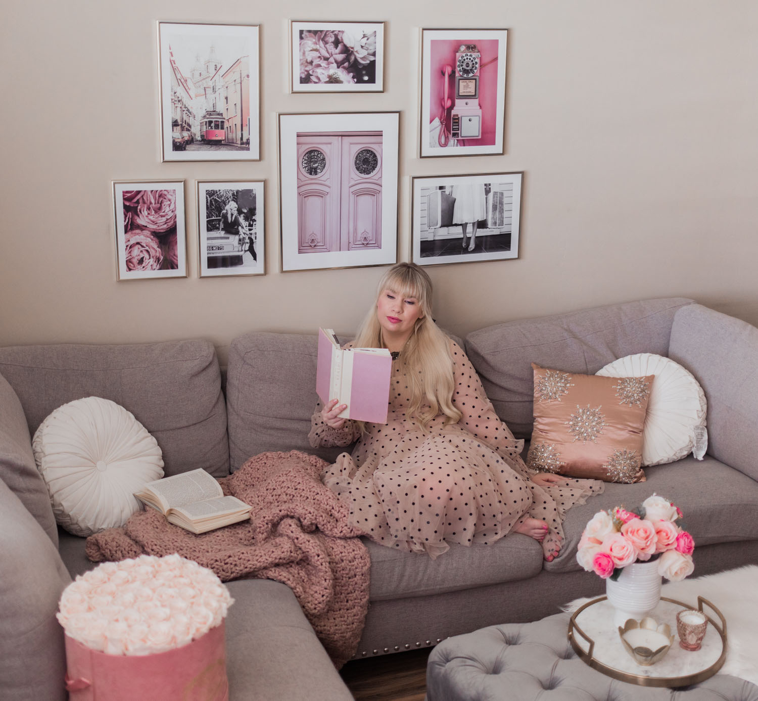 How to Update Your Space with a Pink Gallery Wall