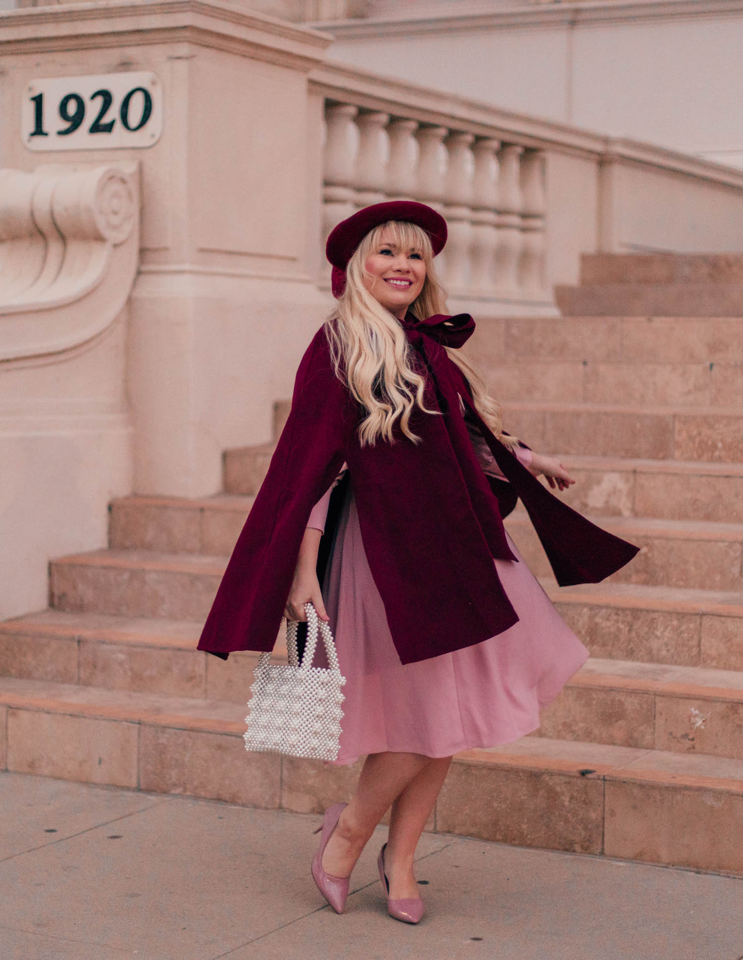 Elizabeth Hugen of Lizzie in Lace styles a red and pink Valentine's Day outfit