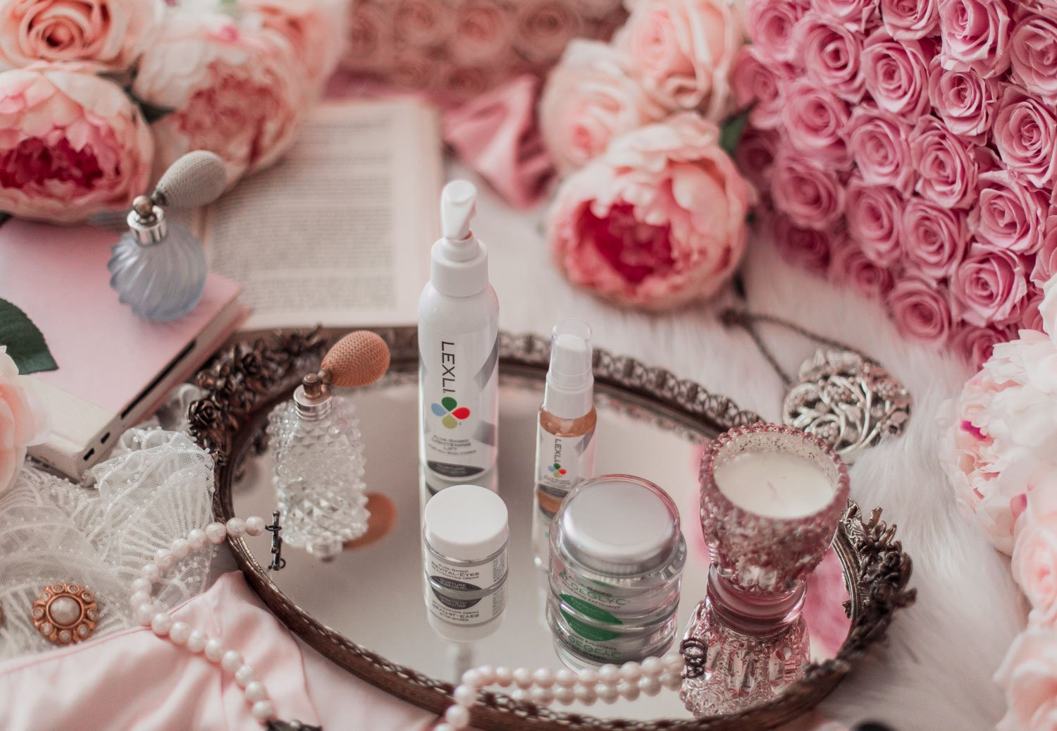 Elizabeth Hugen of Lizzie in Lace shares her self-care routine with Lexli skincare
