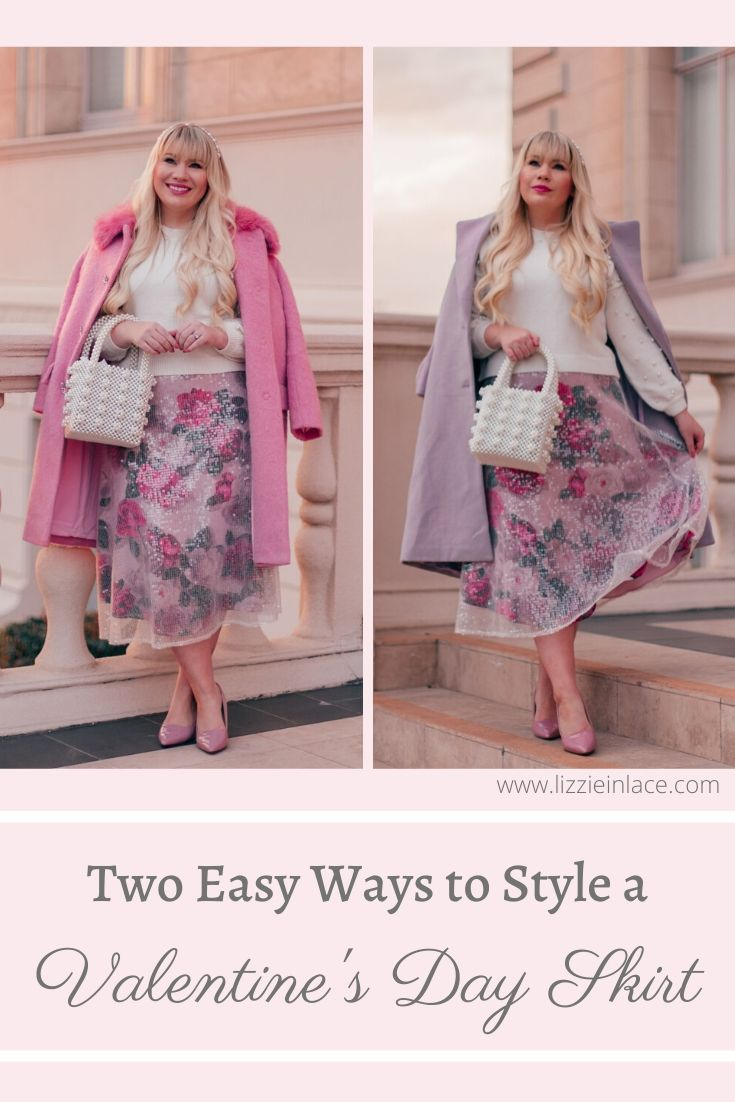 two easy ways to style a valentine's day skirt