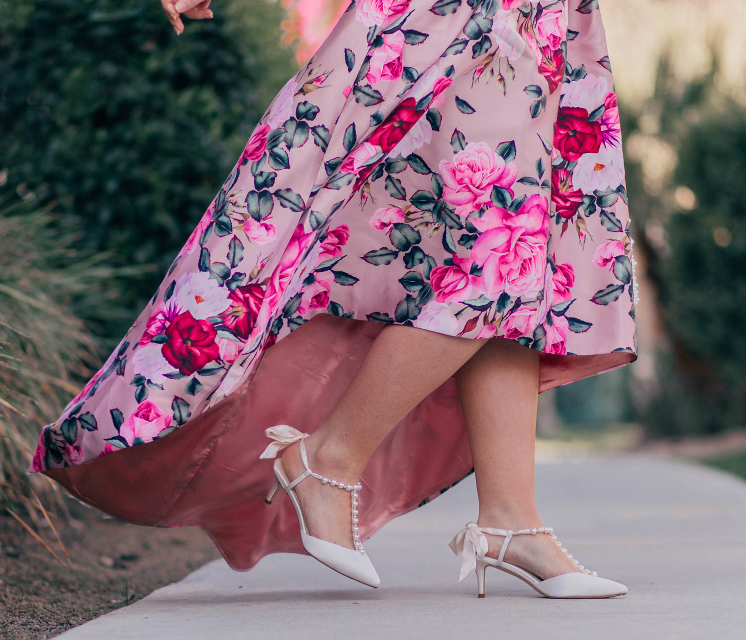 Elizabeth Hugen of Lizzie in Lace shares her girly shoe collection including these pearl heels