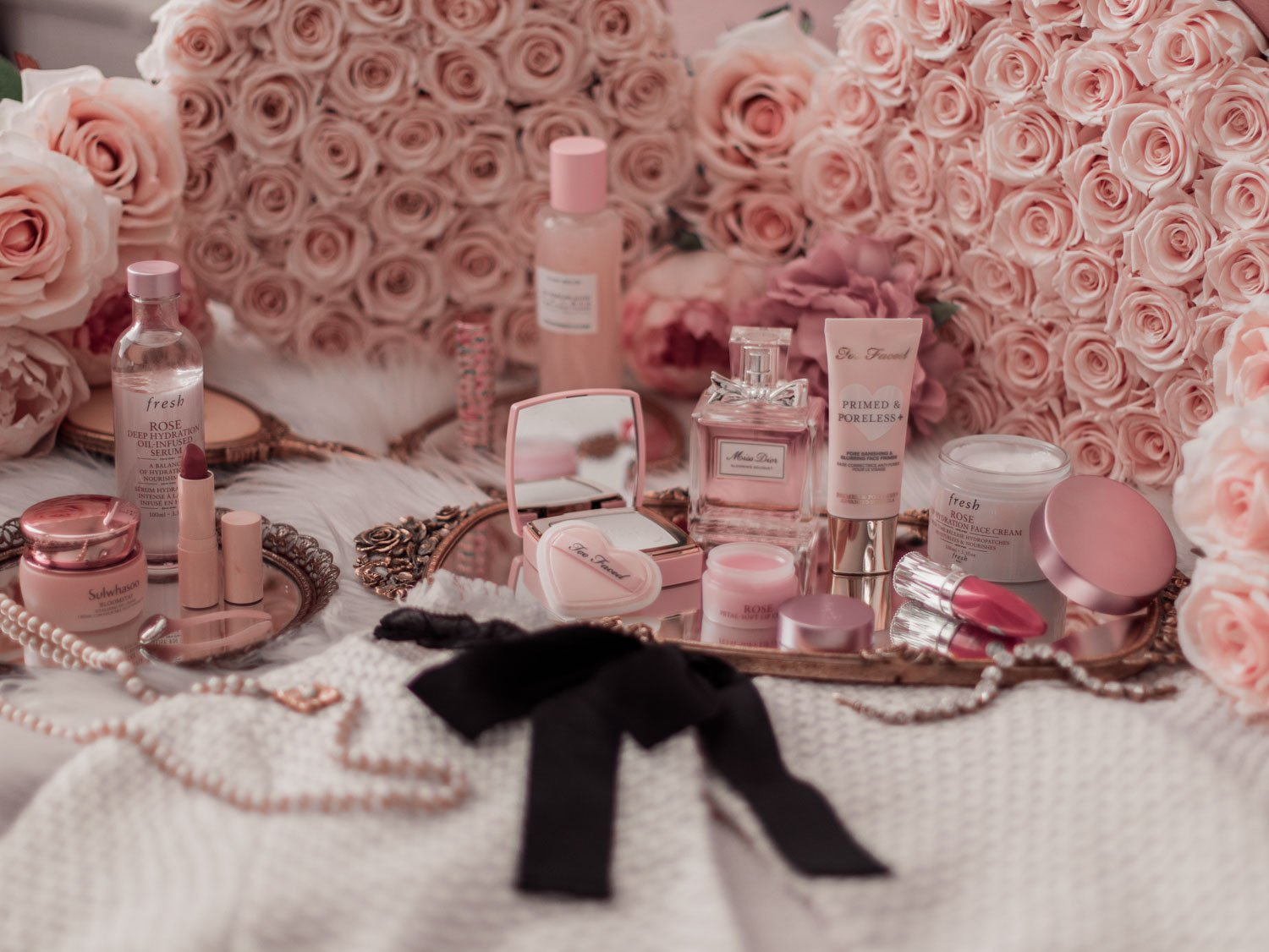 Elizabeth Hugen of Lizzie in Lace shares her must-have pink beauty products