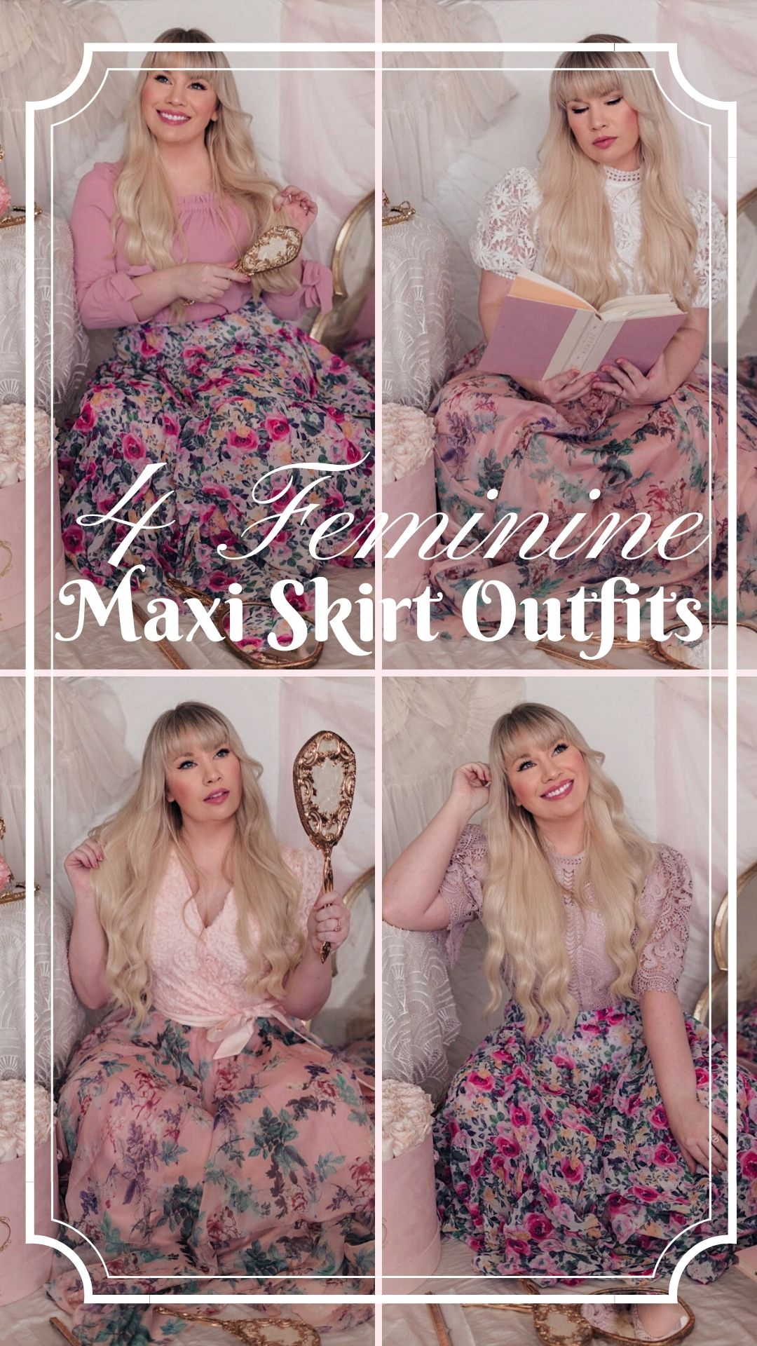 feminine maxi skit outfits