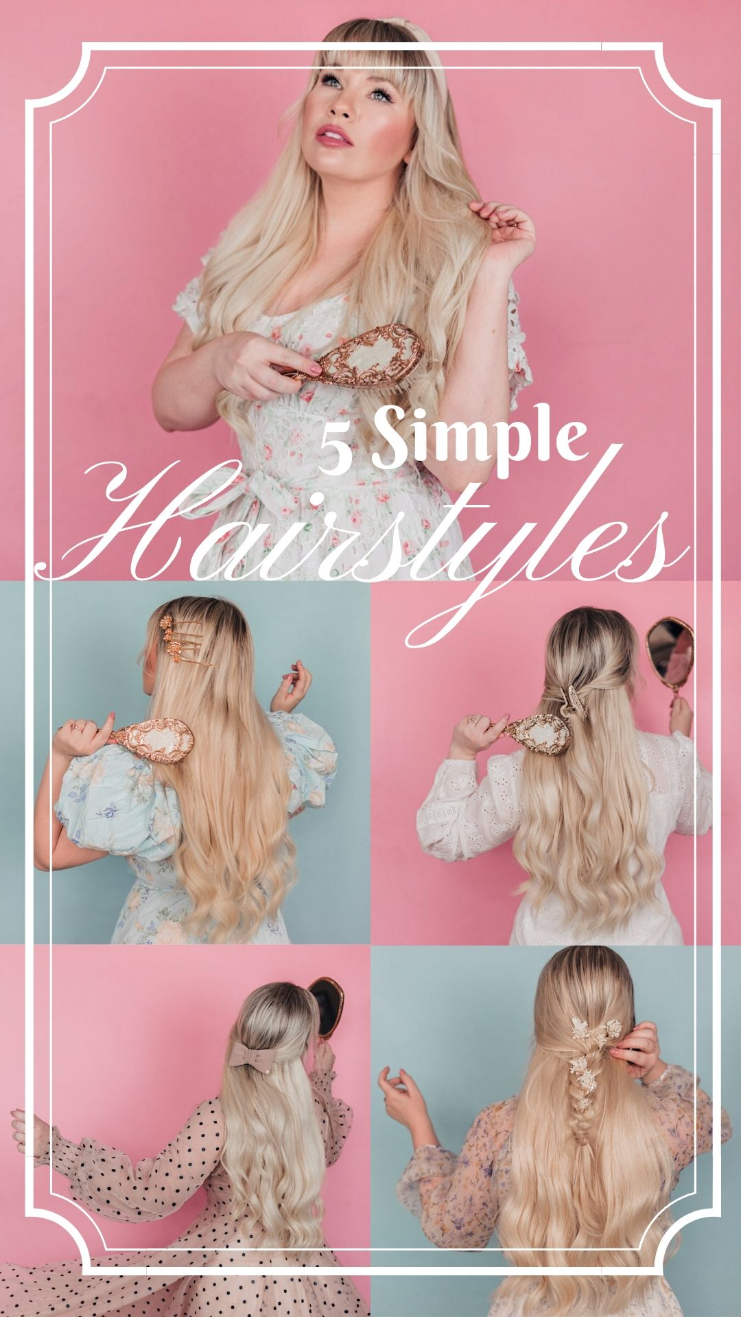 Elizabeth Hugen of Lizzie in Lace shares 5 simple summer hairstyles using hair accessories