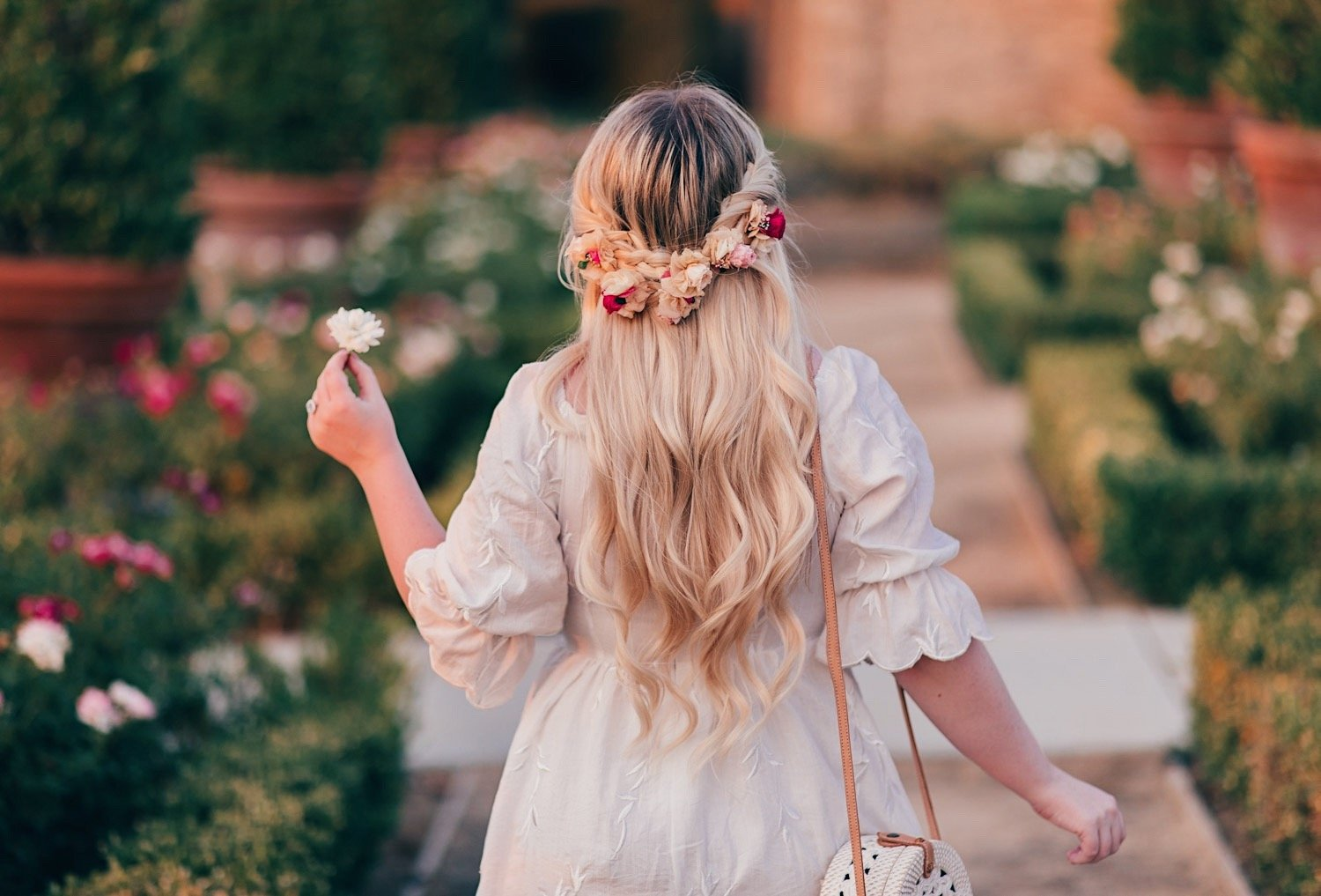 Fashion Blogger Elizabeth Hugen of Lizzie in Lace shares a Pinterest Inspired Boho Braid with Flowers