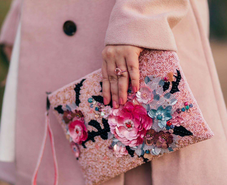 Fashion Blogger Elizabeth Hugen of Lizzie in Lace shares her Mary Frances designer handbag collection including this gorgeous Disney inspired handbag