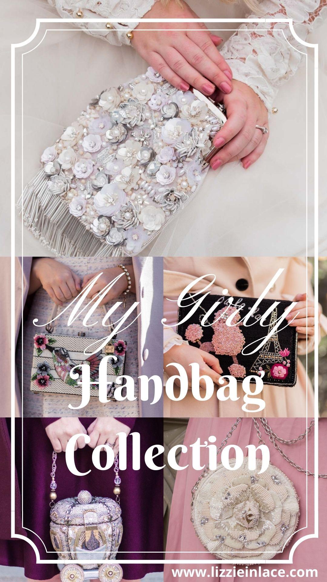 Fashion Blogger Elizabeth Hugen of Lizzie in Lace shares her Mary Frances designer handbag collection