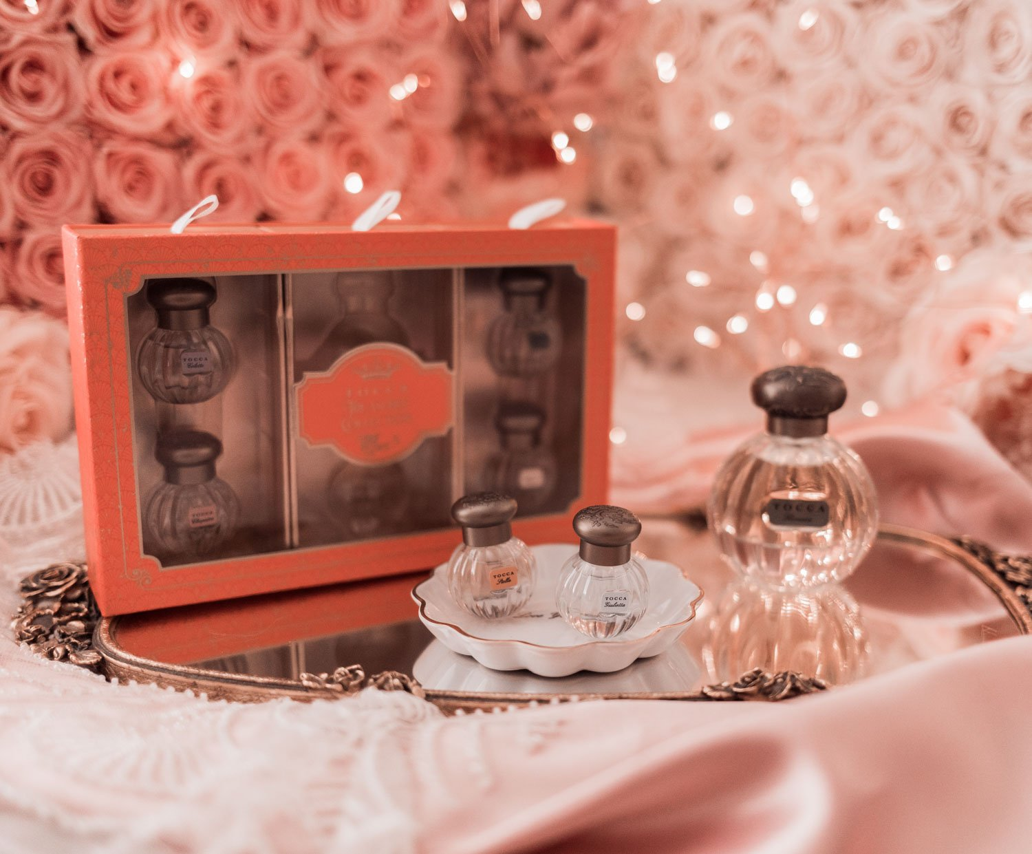 Fashion Blogger Elizabeth Hugen shares her Girly Girl Holiday Gift Guide including this Tocca sample set