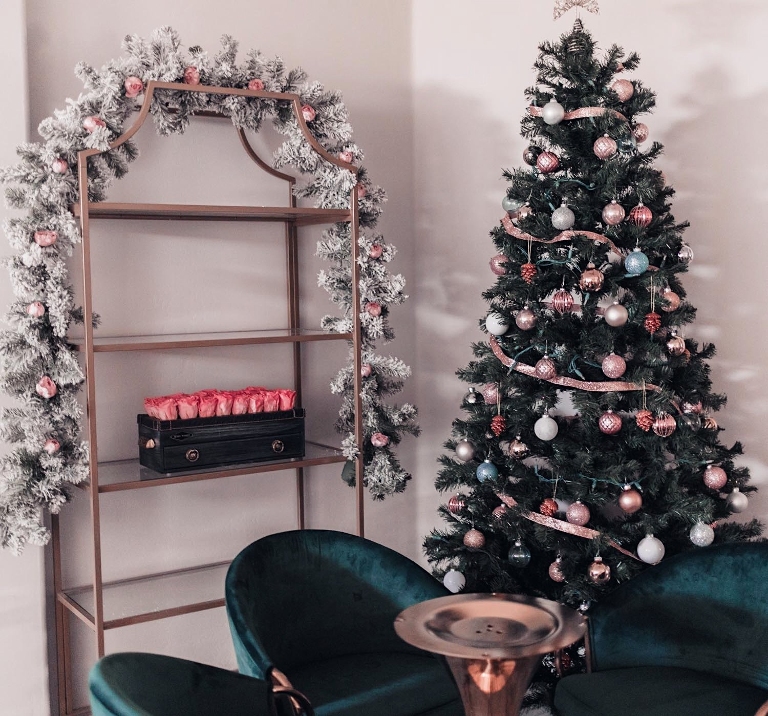 Fashion Blogger Elizabeth Hugen shares her feminine Christmas decor in a pink holiday home tour