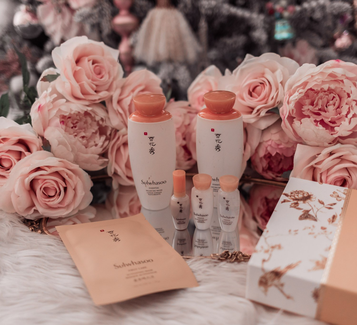 Fashion Blogger Elizabeth Hugen of Lizzie in Lace shares holiday beauty gifts to gift yourself including this incredible Sulwhasoo Essentials Duo set