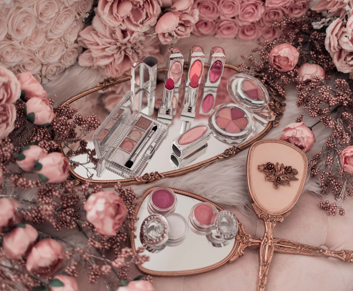 Feminine fashion blogger Elizabeth Hugen of Lizzie in Lace shares her jill Stuart beauty makeup