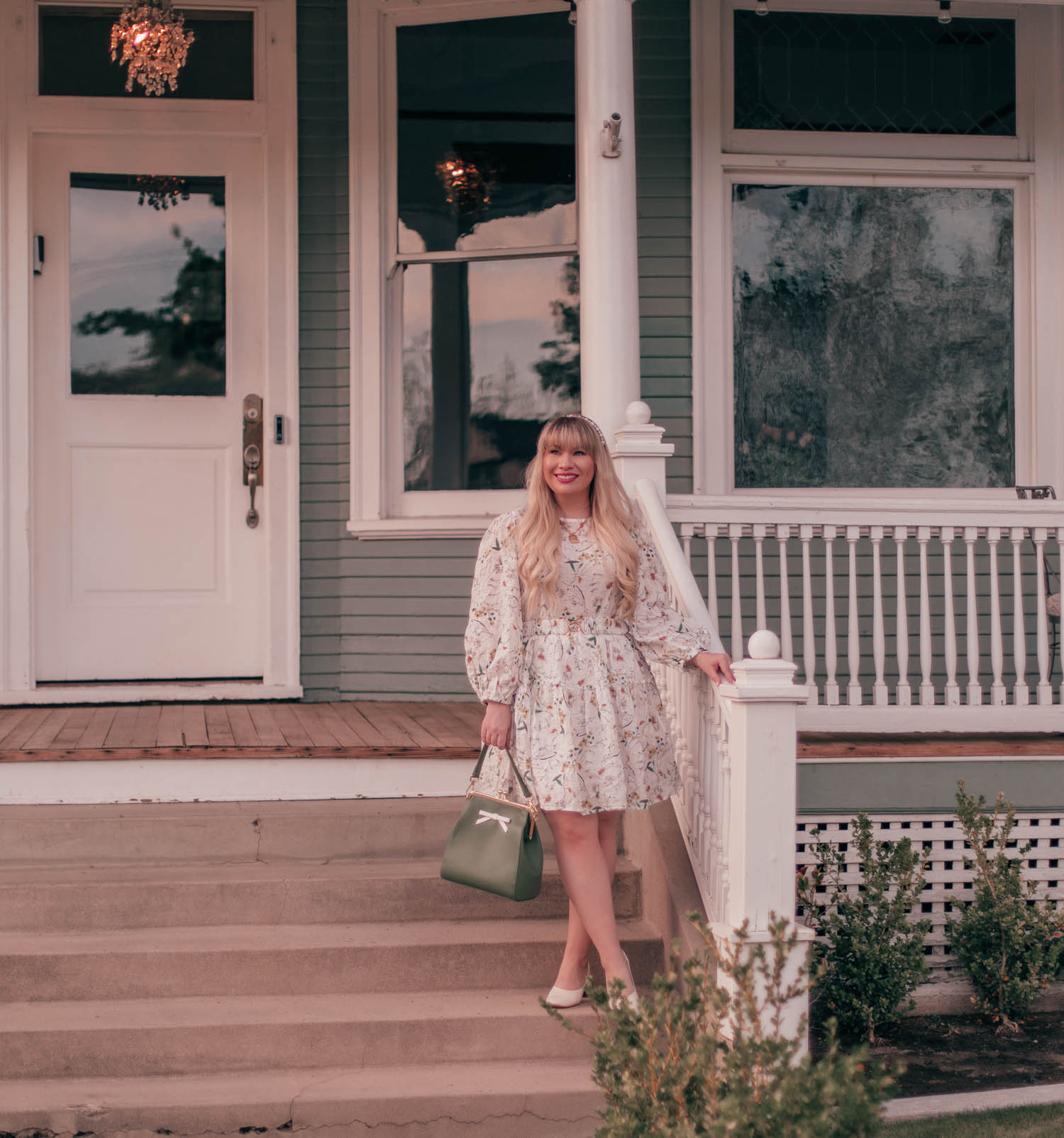 Feminine fashion blogger Elizabeth Hugen of Lizzie in Lace shares her spring 2021 bucket list along with a girly spring outfit idea including this floral Chicwish dress