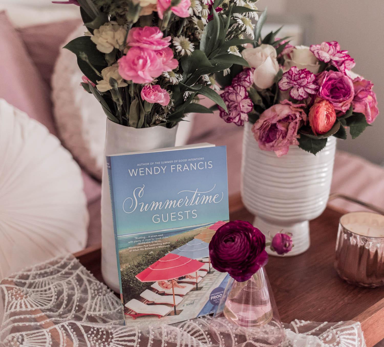 Feminine blogger Elizabeth Hugen of Lizzie in Lace shares her favorite spring books including Summertime Guests